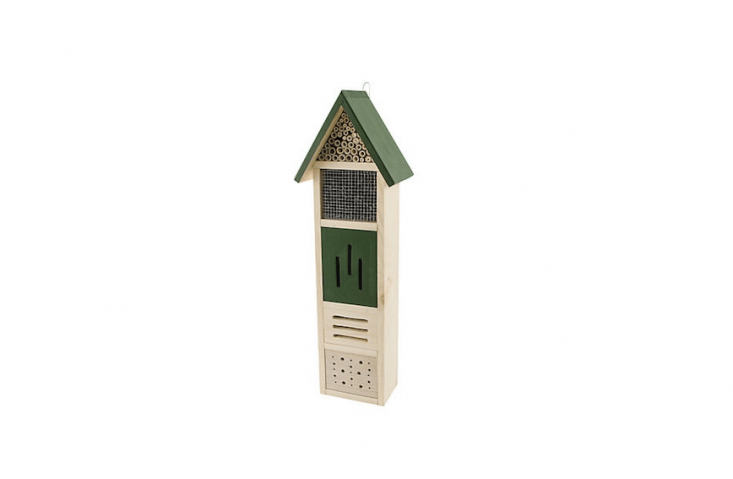 Made in Lithuania, aKew Gardens Mini Bug Cottage is designed to offer shelter to a variety of species, with tubes for solitary bees and vertical slots for butterflies; £\27.95 from John Lewis.