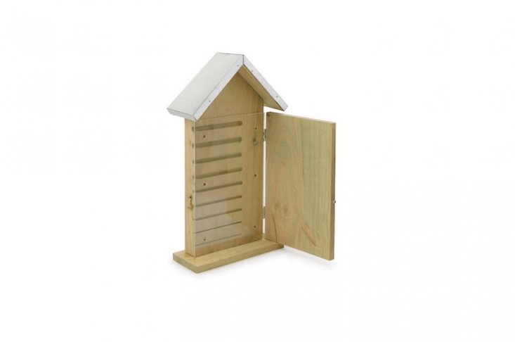 AMason Bee Observation House has a plexiglass panel to allow you to &#8\2\20;peek inside the secret lives of bees.&#8\2\2\1; Is it \$33 from Uncommon Goods.