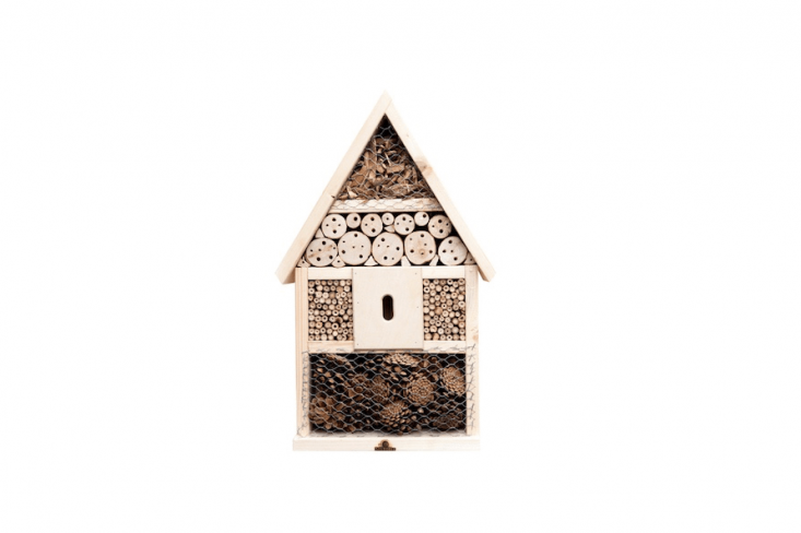 From Germany-based Neudorff, anInsect Mansion has breeding tubes for mason bees, bamboo nesting tubes for wild bees (as well as shelters designed for ladybugs, digger wasps, green lacewings, andbutterflies). It is £54.99 from Crocus.