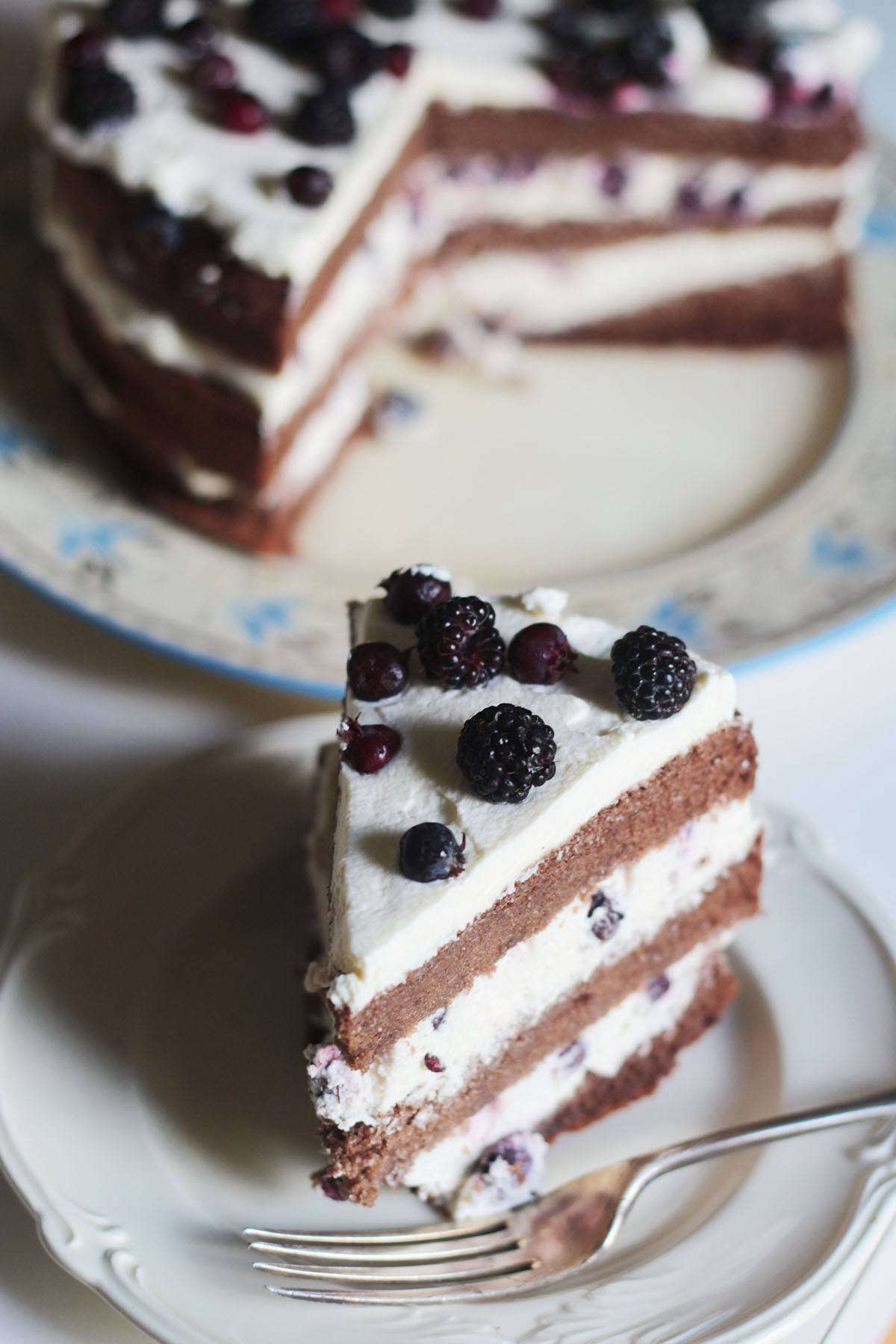 The dark, complex flavor of black raspberries is delicious with chocolate. I included them recently in a riff on a Black Forest cake, along with indigenous serviceberries (also known as saskatoon).