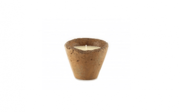 Made in the UK, a clayCitronella Hedgerow Pot is available in two sizes at prices ranging from £4.79 to £\10.39 depending on size at Crocus.
