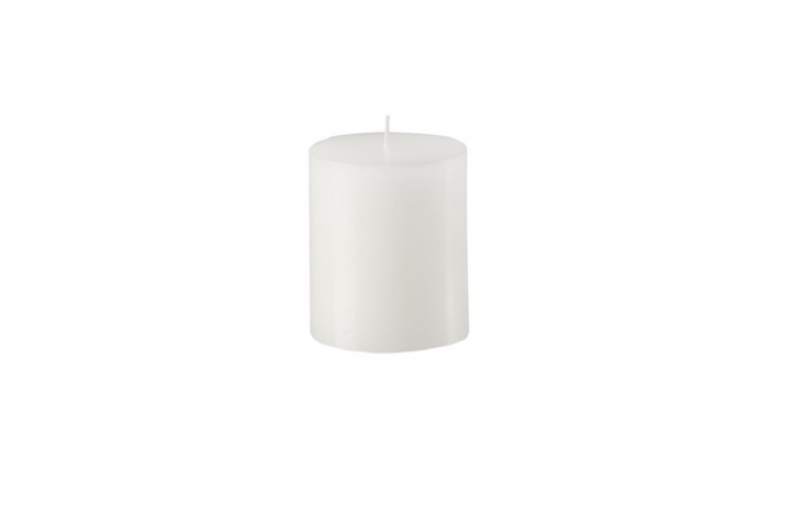 A set of three 4-inch White Citronella Pillar Candles is \$\17.99 from Candles For Less.