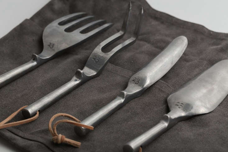 A set of four Gardening Tools includes a fork, a weeder, a digger, and a trowel;¥ 0 (approximately $4
