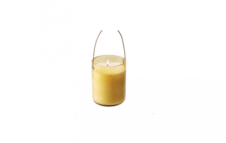 A Hanging Bubble Glass Citronella Candle is \$\28 from Terrain.