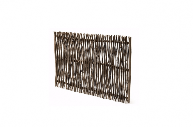 A Privacy Screen Made Of Hazel Switches is 6 feet high. Made by experienced basket weavers, it will last up to  years and is €7 from Manufactum.