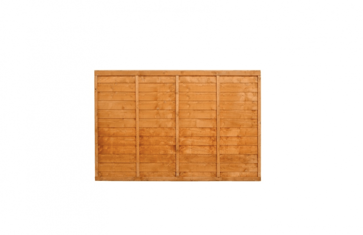 A Wooden Fence Panel with horizontal boards has been dip treated to prevent rot and fungal decay; available in four sizes at prices ranging from £.99 to £.99 depending on size from Buy Fencing Direct.