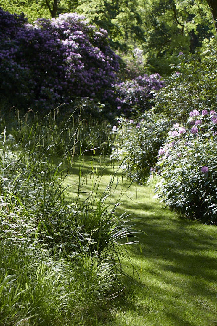 Create contrast with mown paths. Photograph by Britt Willoughby Dyer. For more, see  Shade Garden Ideas to Steal from an English Woodland.