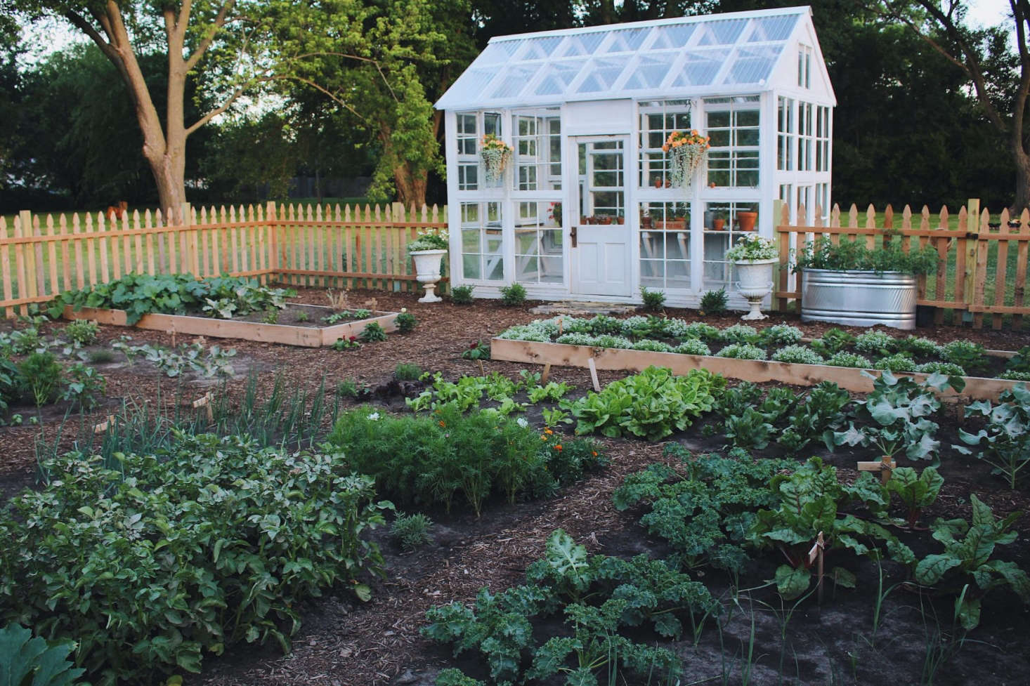 This Sustainable Kitchen Garden in Kalona, Iowa, was entered by Under A Tin Roof and chosen as a finalist by Gardenista editor Michelle Slatalla, who said: &#8