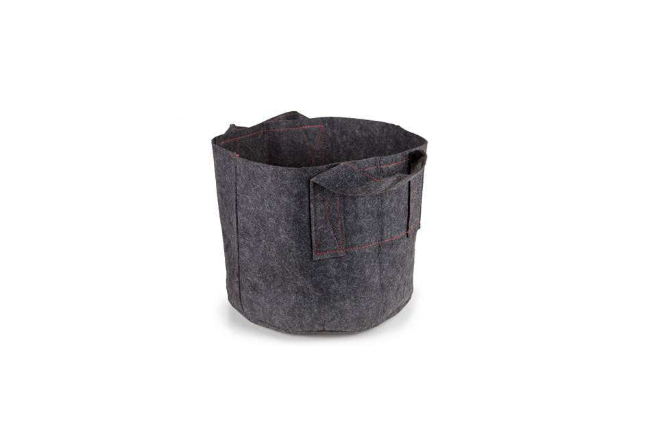 A 5-Gallon Aeration Fabric Pot in gray allows roots to breathe and grow easier; starts at $src=