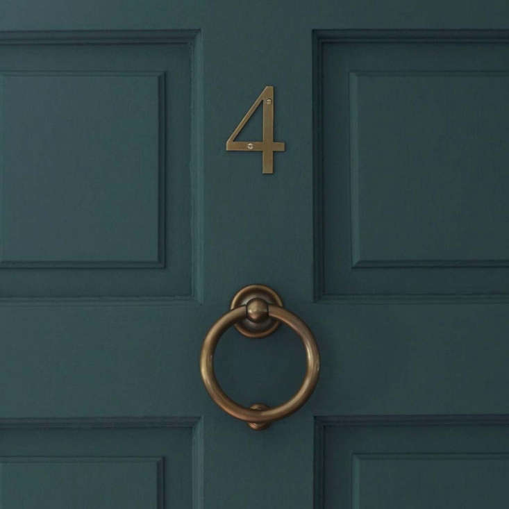A roundCroft Door Knocker is available in five finishes including brass as shown; measuring approximately 5 inches high, it is£44 (approximately $58).