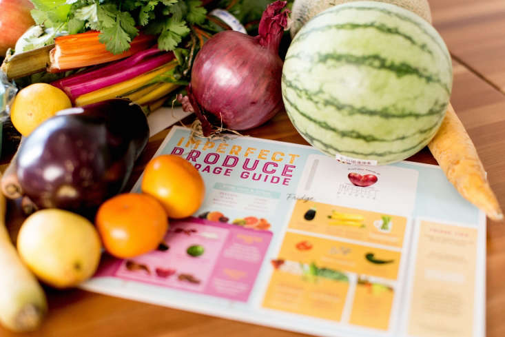 Imperfect Produce provides subscribers with a recipe card that offers suggestions for how to use rescued produce.