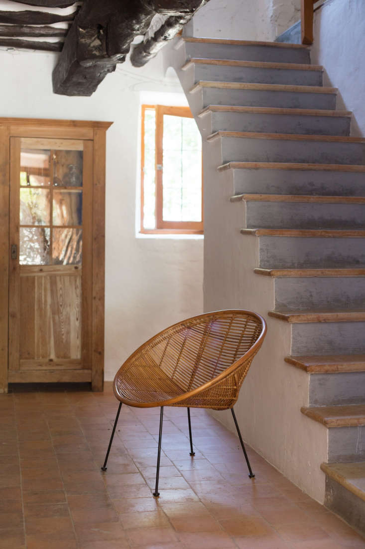 Indoors, tile floors and stone stair steps are cool underfoot even on hot days.