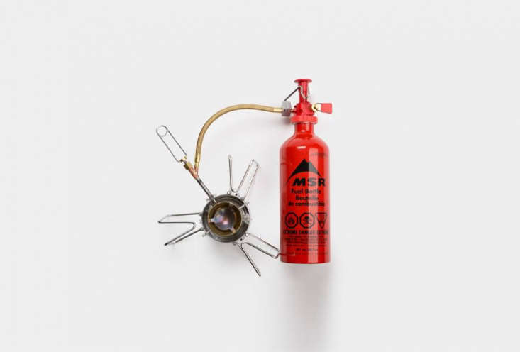 The MSR Dragonfly Campstove and Fuel Bottle works at any latitude, longitude, or elevation and can support up to a \10-inch pot or pan; \$\168 at Best Made Co.