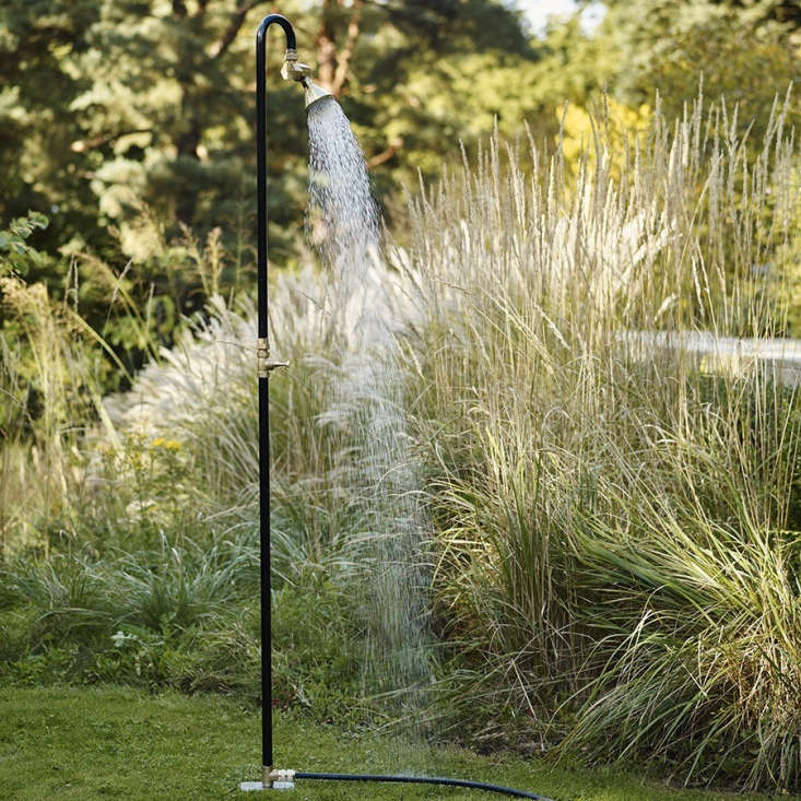 Configured as a standard-height shower, the Outdoor Lyman Shower is approximately 7.