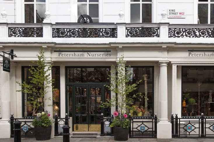 Petersham nurseries shop London Covent Garden facade