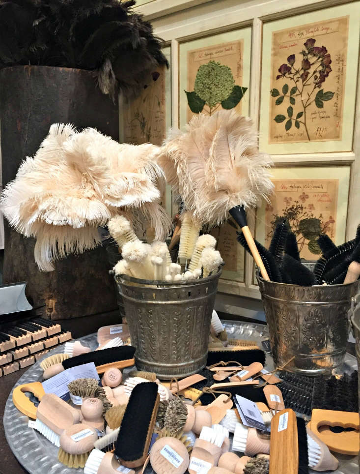 Among the more rarified items are extremely useful and very beautiful household items, including ostrich dusters and all manner of brushes. Photograph by Clare Coulson.