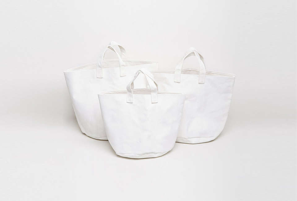 French company Serax makes a Set of Three Canvas Bags designed for use with plants. They&#8