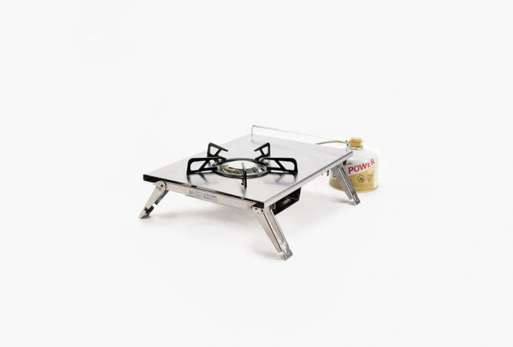 Snow Peak&#8\2\17;sBaja Burner (my stove of choice) is packable and can stand alone or integrate into a larger cooking system from Snowpeak; \$\179.95.