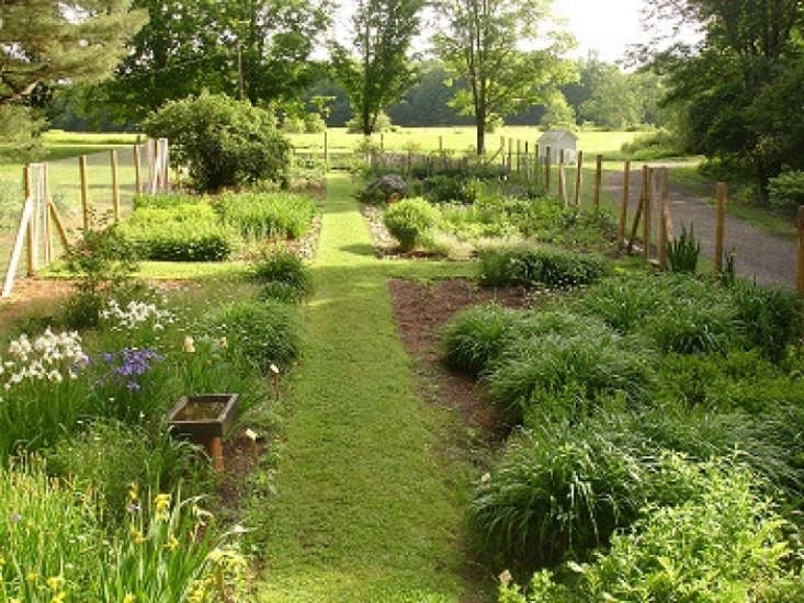 The restoration of the kitchen garden was completed by Minchak in . Photograph courtesy of the Millay Society at Steepletop.