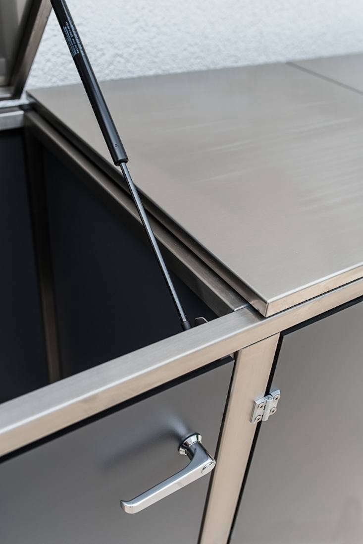 An optional tilting top allows access from above.