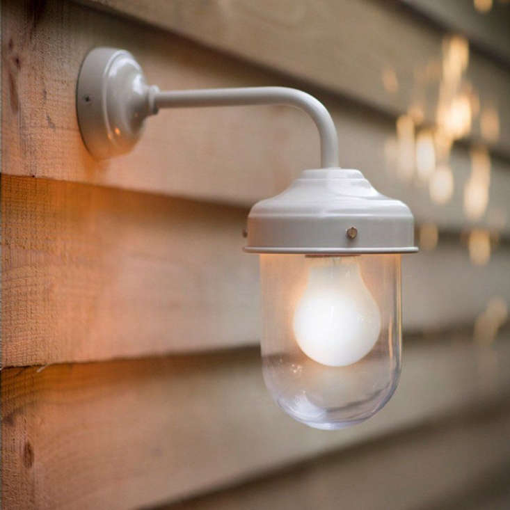 On offer from Willow & Stone, a Barn Lamp with a clay-colored finish is £50 from Willow & Stone.