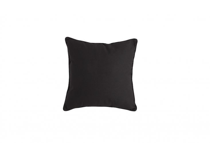 Suitable for use outdoors or in, aCabana Black Pillow is \$\16 from Pier \1 Imports.