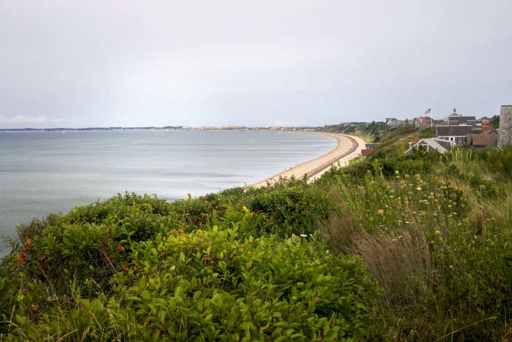 &#8\2\20;That bared and bended arm of Massachusetts&#8\2\2\1; as it curves towards Provincetown. The view from Merryfield Cottage.