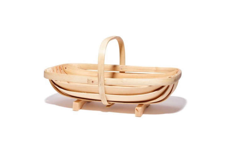 The Cuckmere Trug Company makes the English Garden Trug out of chestnut wood and cricket bat willow; \$\100 at Goop (contact Goop for restocking information).