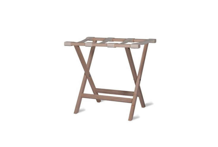 Folding luggage racks, like this one made of beech wood, send guests a message that you care about their comfort. See our picks in this week&#8