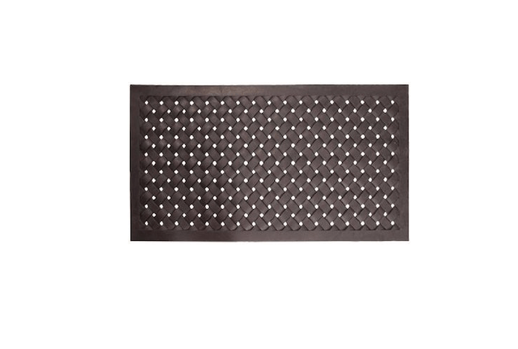A largeNach Braided Rubber Doormat measures 48 by  inches and is $8