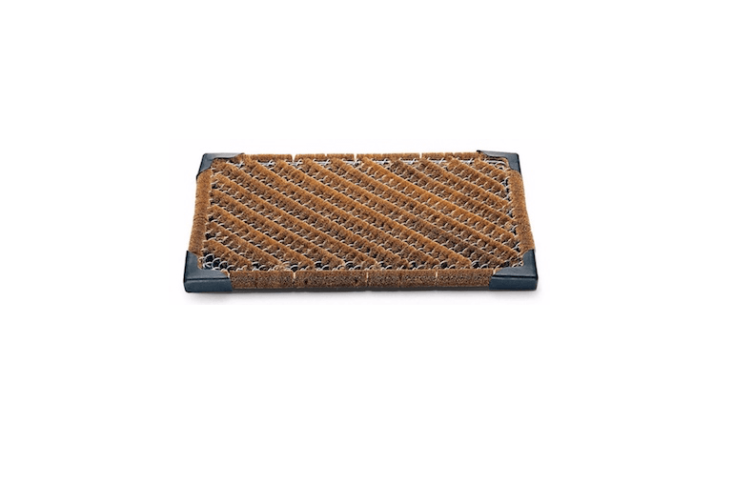 &#8\2\20;It is unlikely that you have yet had anything quite like this under your shoes. This mat made from strong zinc-coated wire mesh covered with extra tough coconut fibre comes from a coconut textile works in West-Germany,&#8\2\2\1; notes Manufactum. With a non-slip rubber underlay aCoconut Fibre and Wire Mesh Doormat measures approximately \23 by \15 inches and is is €54 from Manufactum.