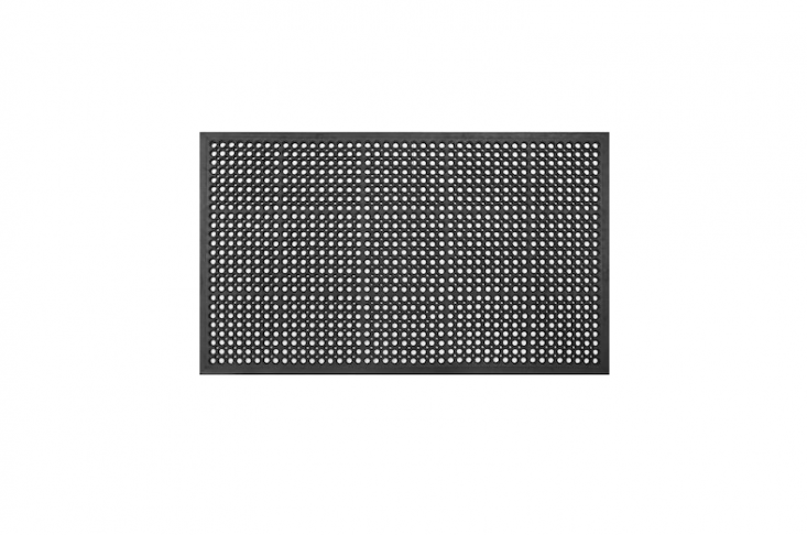 A largeDurable Anti-Fatigue and All Purpose Rubber Doormat measures 30 by 60 inches and is $33.99 from Wayfair.