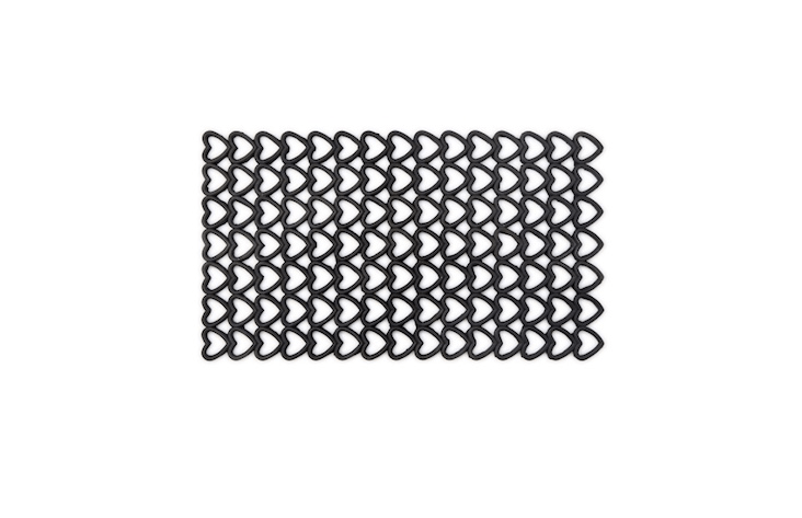 The pattern on this boot scraper has earned it the name Heart Rubber Doormat but to us it looks more like a length of chain mail left behind after a Game of Thrones shoot; $ from Uncommon Goods.