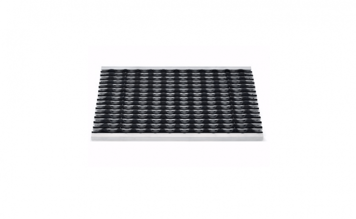 Made of non-slip rubber ribbing, aRibbed Doormat is held together by stainless steel wires; it measures approximately  by  inches and is €9 from Manufactum.