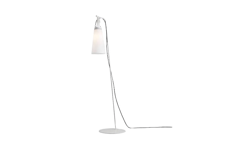 With a removable lantern, aSasha Outdoor Floor Lamp made in Spain by Carpyen is 68.5 inches tall; \$\1,\1\28 from Lumens.