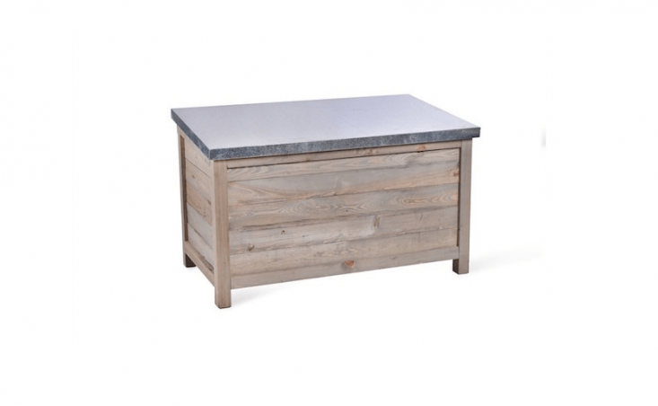 Garden Trading&#8\2\17;sAldsworth Outdoor Storage Box is made of spruce and has a slanted, weatherproof zinc lid to encourage rain to run off. It is £\235.