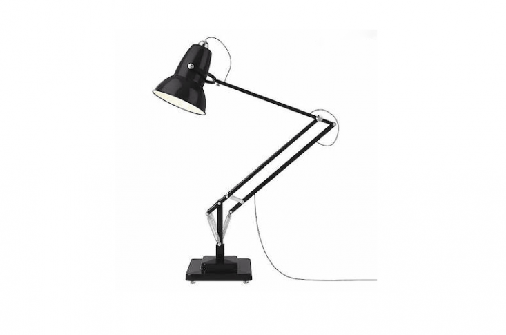 From Anglepoise, a Giant Outdoor Floor Lamp faithful to the company&#8\2\17;s original \1934 design &#8\2\20;is the perfect way to make a not-so-subtle design statement when lighting your exterior space.&#8\2\2\1; With stainless steel wheels for portability, its height can be adjusted from 60.6 inches to \106.3 inches. Available in \15 colors, it is \$5,300 from Lumens.