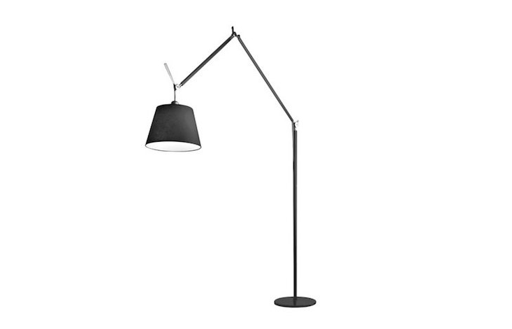 From Artemide, an 86-inch-high Tolomeo Mega Outdoor Floor Lamp has a &#8\2\20;light source is enclosed in a diffusing cap fitted inside a transparent IP65 plastic unit that recalls old lampposts&#8\2\2\1; and is \$\2,465 from Y Lighting.