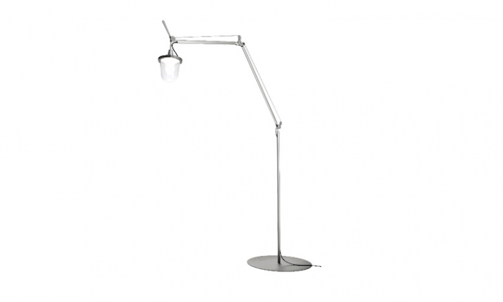 An aluminum Tolomeo Lampione Outdoor Floor lamp has a transparent plastic diffusing cap &#8\2\20;that recalls old lampposts, in use when light was produced from oil.&#8\2\2\1; It is£80\2.40 from Made in Design.