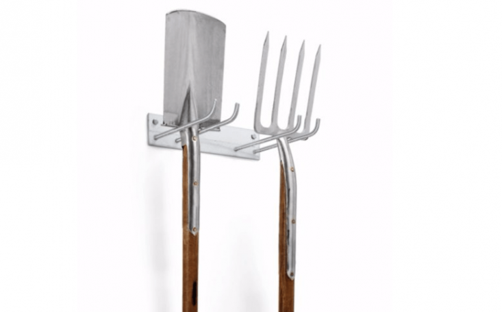 ASteel Tool Holder (Double-Size) has two pairs of hooks and is €.50 at Manufactum.
