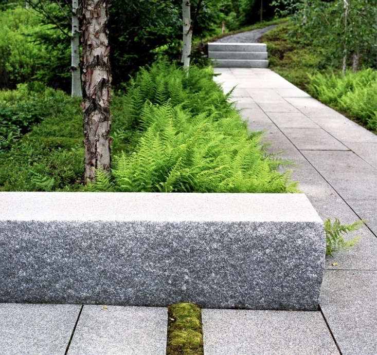 Sources for the dry-laid granite used through the site include salvaged Acadia granite from Sullivan Quarry andWoodbury Gray Granite from Swenson Quarry.For more of this garden, seeLessons from the Land: Finding a Lost Landscape on the Coast of Maine.Photograph byJonathan Levittcourtesy ofASLA