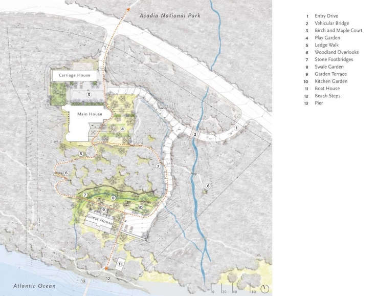 The site plan. Photograph by Stephen Stimson Associates/ Landscape Architects. See more of the project at ASLA.