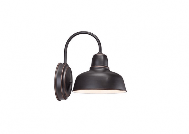 An Urban Barn Light has an oil-rubbed bronze finish; \$49.99 from Lamps Plus.