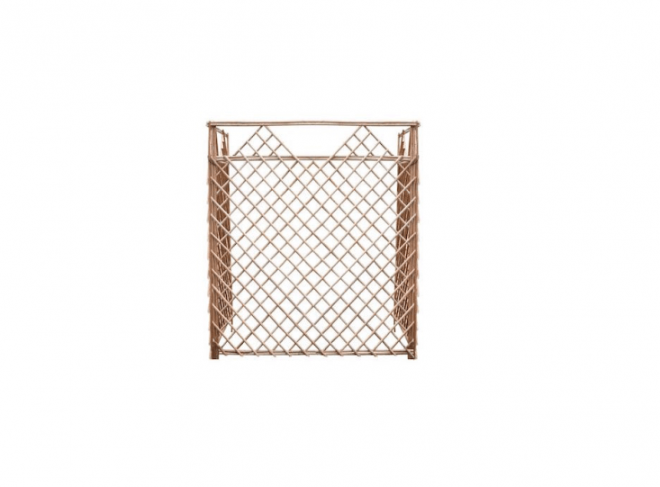 In the same way a thin, gauzy curtain can soften the view beyond a window, a Peeled Willow Screen Garden Fence can blur the silhouette of an air conditioner unit; \$!6.99 per 46-by-46-inch panel at Menard&#8\2\17;s.