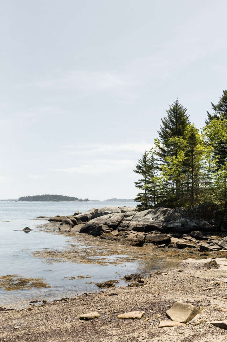 A quiet nearby beach. The island sits in Maine&#8