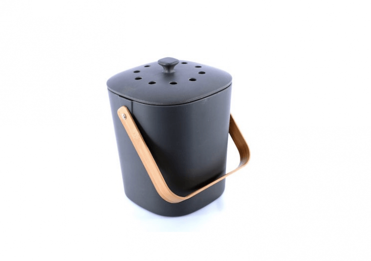And, upgrade them to a stylish Bamboo Countertop Composter, made from biodegradable and dishwasher safe bamboo fiber; $40 from Bamboozle.