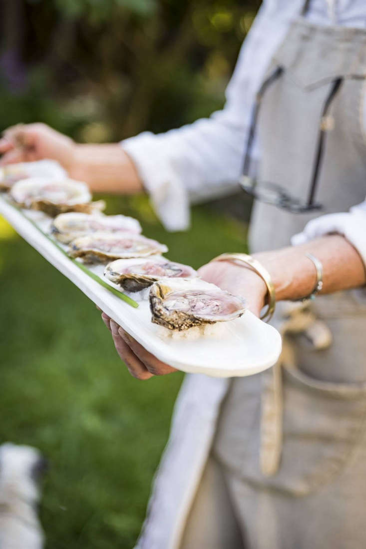 &#8\2\20;I serve oysters regularly, mostly because shellfishing is the largest agricultural endeavor in Connecticut, so they are very farm-to-table,&#8\2\2\1; says Phoebe. &#8\2\20;I switch up the mignonette to reflect what&#8\2\17;s in season; recently I made it with pickled lovage stems—so good.&#8\2\2\1;