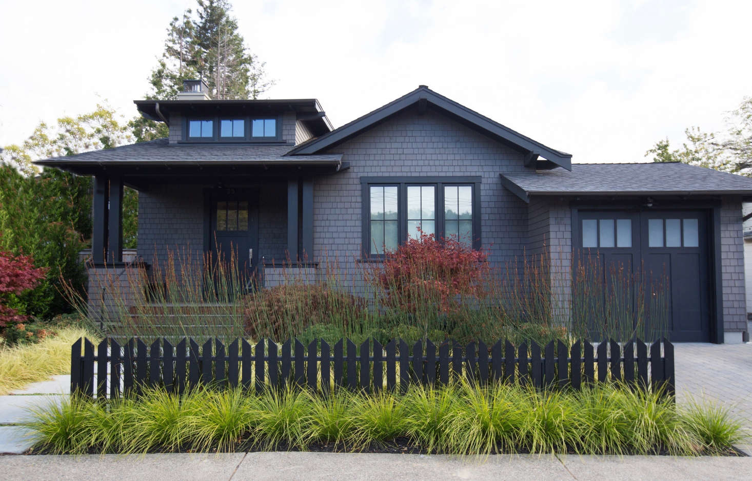 After searching for months for just the right dark stain color, Raleigh Zwerin suddenly saw it by accident when she drove by a house under construction in nearby San Francisco.