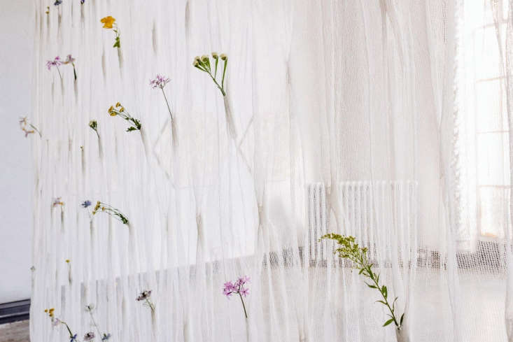Handmade in Japan, each curtain panel&#8\2\17;s manufacture is a journey: &#8\2\20;It begins in Shikoku, where washi paper is made from the veins in the leaves of the Manila Jute plant,&#8\2\2\1; notes the designer. &#8\2\20;Individual leaves are laboriously inspected before being picked by master washi makers, who ensure the leaves are mature before pressing them into resilient washi.&#8\2\2\1; Read more of the story at Umé Studio.