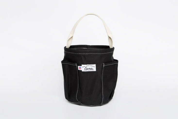 A surprisingly fashionable tool carrier, theCanvas Garden Tote Bag by Eena features a waterproof vinyl bottom and four outside pockets for tools; $60 at Canoe. See Easy Pieces: Soft Garden Totesfor more ideas.